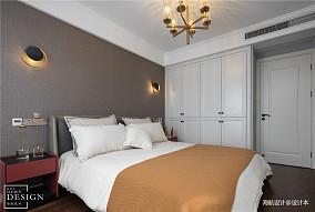 明亮74平美式三居卧室布置图