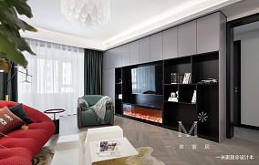 大气80平现代三居实景图三居现代简约家装装修案例效果图