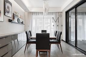 华丽127平现代三居餐厅效果图欣赏三居现代简约家装装修案例效果图