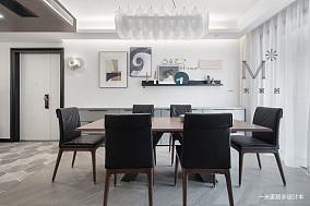 华丽122平现代三居餐厅装修美图三居现代简约家装装修案例效果图