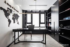 质朴125平现代三居书房装饰图片三居现代简约家装装修案例效果图