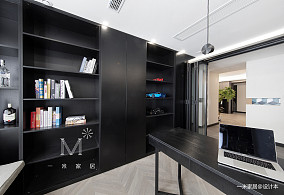 大气116平现代三居书房装修美图三居现代简约家装装修案例效果图