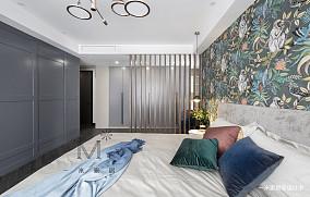悠雅77平现代三居卧室装修图三居现代简约家装装修案例效果图