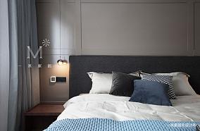 大气100平现代三居卧室效果图三居现代简约家装装修案例效果图