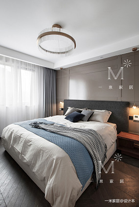 简洁122平现代三居卧室布置图三居现代简约家装装修案例效果图