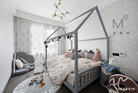 华丽85平现代三居儿童房设计案例三居现代简约家装装修案例效果图