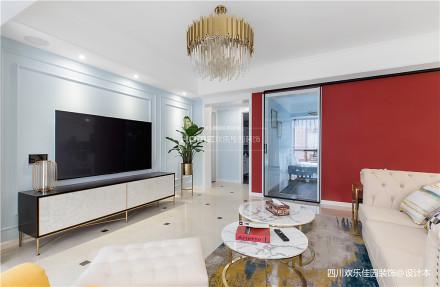 质朴57平混搭二居客厅设计美图