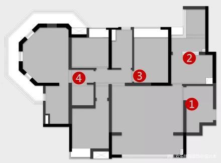 悠雅70平混搭二居装修设计图