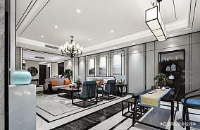 低奢中式客厅设计图