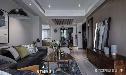 90㎡现代台式客厅图片