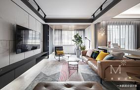 明亮145平现代二居客厅效果图欣赏二居现代简约家装装修案例效果图