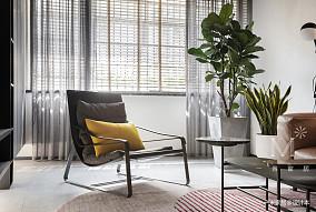 明亮51平现代二居客厅案例图二居现代简约家装装修案例效果图
