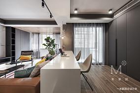 平现代二居装修设计图二居现代简约家装装修案例效果图