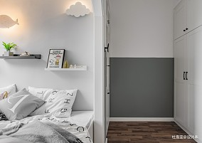 轻奢79平北欧二居卧室装饰图片二居北欧极简家装装修案例效果图