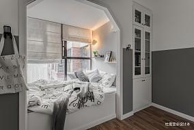 明亮76平北欧二居卧室设计图二居北欧极简家装装修案例效果图