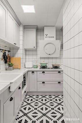 优雅64平北欧二居厨房设计效果图二居北欧极简家装装修案例效果图