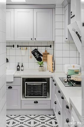 优雅57平北欧二居厨房装修案例二居北欧极简家装装修案例效果图