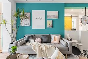 明亮74平北欧二居客厅装修设计图二居北欧极简家装装修案例效果图