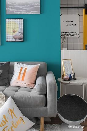 华丽58平北欧二居客厅装修案例二居北欧极简家装装修案例效果图