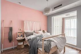 温馨83平北欧二居卧室设计图二居北欧极简家装装修案例效果图