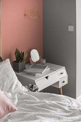 华丽76平北欧二居卧室设计案例二居北欧极简家装装修案例效果图