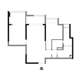 温馨64平北欧二居装修案例二居北欧极简家装装修案例效果图