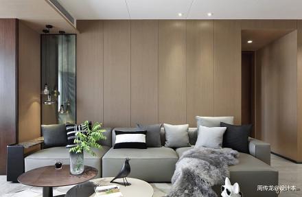 明亮137平现代四居客厅实景图片