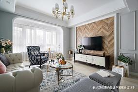 质朴129平混搭三居客厅效果图片大全