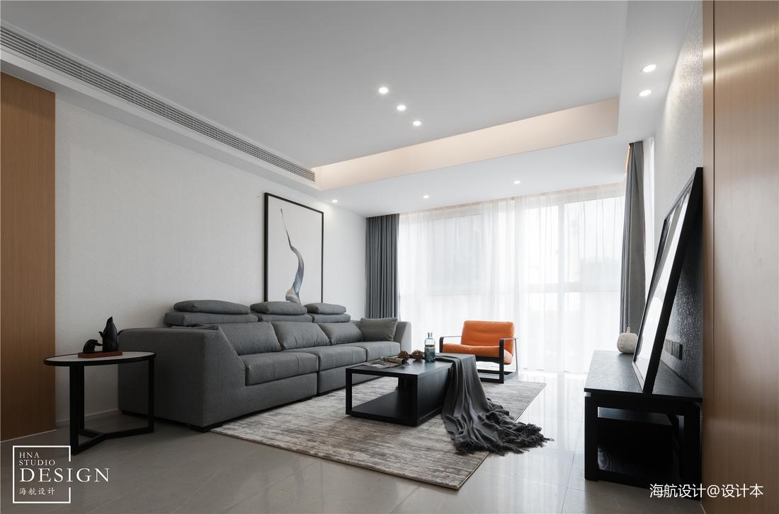 极简空间现代客厅实景客厅现代简约客厅设计图片赏析