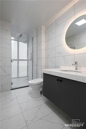 简洁93平现代四居卫生间图片大全