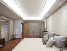 质朴86平现代三居卧室效果图