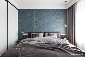 平现代三居卧室效果图三居现代简约家装装修案例效果图