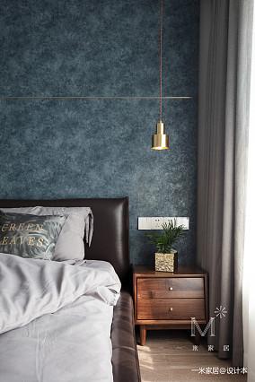 华丽112平现代三居卧室装饰图三居现代简约家装装修案例效果图