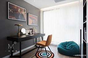 简洁112平现代三居书房装饰图三居现代简约家装装修案例效果图