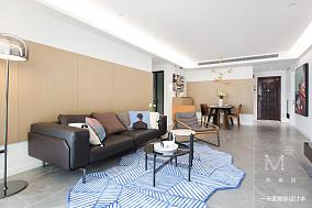 悠雅101平现代三居客厅设计案例三居现代简约家装装修案例效果图