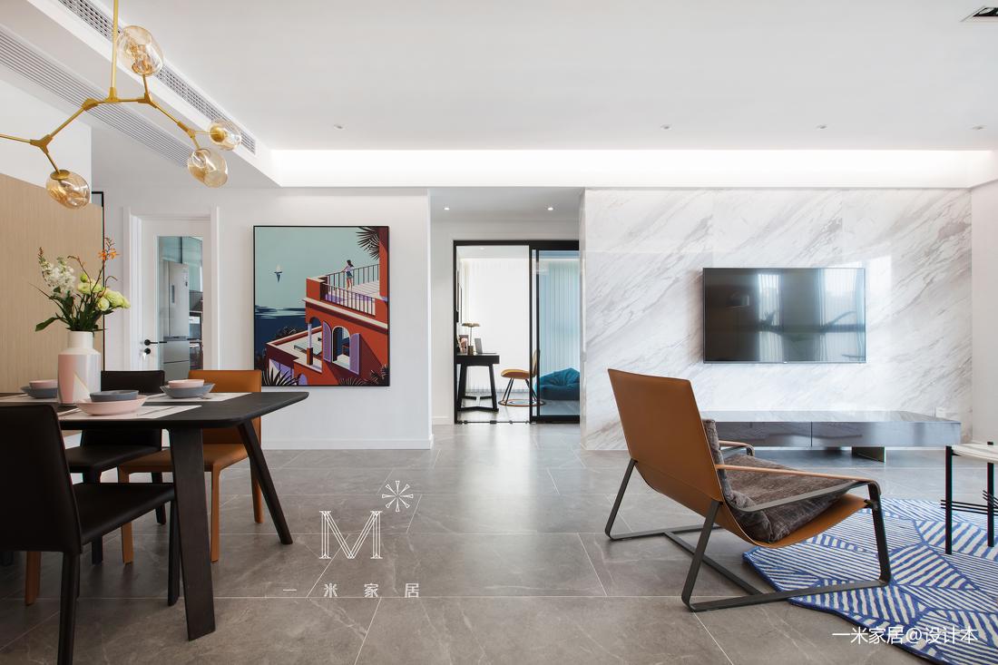 华丽138平现代三居客厅设计图三居现代简约家装装修案例效果图
