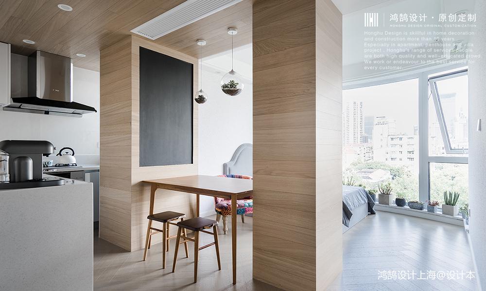 简洁60平日式小户型餐厅装修装饰图一居日式家装装修案例效果图