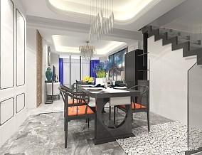 浪漫255平中式样板间餐厅实拍图厨房中式现代设计图片赏析