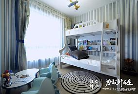 温馨99平北欧三居儿童房图片欣赏三居北欧极简家装装修案例效果图