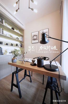 明亮77平北欧三居书房设计美图三居北欧极简家装装修案例效果图