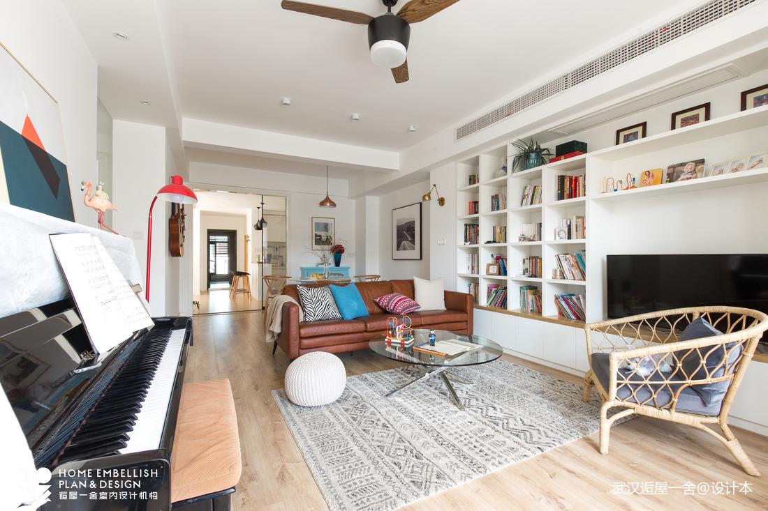 大气120平北欧四居客厅图片大全四居及以上北欧极简家装装修案例效果图