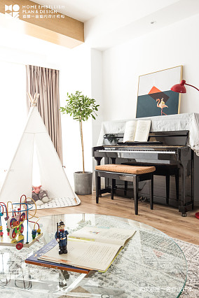 明亮151平北欧四居客厅装修效果图四居及以上北欧极简家装装修案例效果图