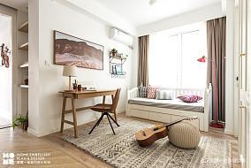 轻奢124平北欧四居书房图片欣赏四居及以上北欧极简家装装修案例效果图
