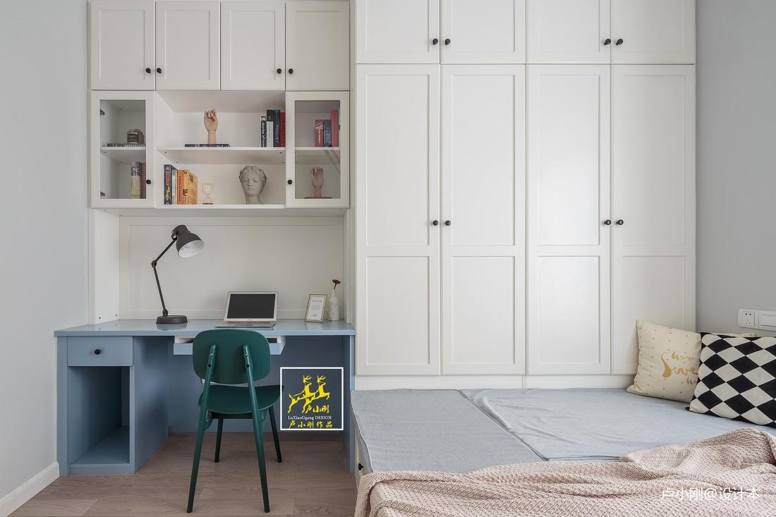 典雅113平北欧三居卧室装潢图卧室木地板北欧极简卧室设计图片赏析