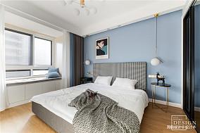 浪漫108平北欧三居卧室实景图