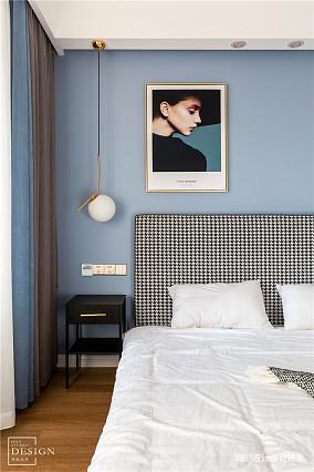 浪漫76平北欧三居卧室装修图