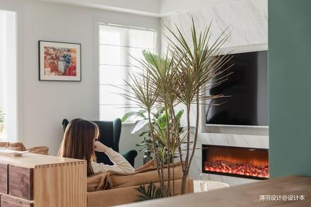 典雅82平简约二居客厅装修装饰图
