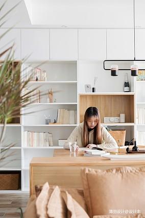 典雅90平简约二居餐厅装潢图二居现代简约家装装修案例效果图