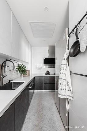 明亮69平简约二居厨房设计案例二居现代简约家装装修案例效果图