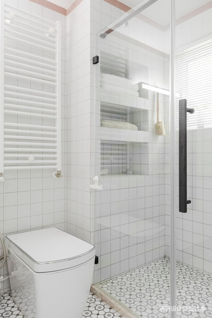 悠雅60平简约二居卫生间装饰图片卫生间现代简约卫生间设计图片赏析
